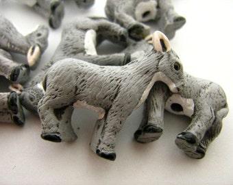 10 Large Donkey Beads - LG147