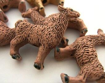 4 Large Brown Llama Beads - LG165
