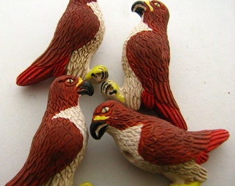 10 Large Red Tail Hawk Beads - LG172