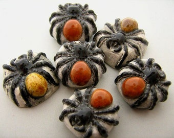 4 Large Spider Beads