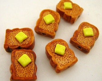 20 Tiny Toast  Beads - CB718