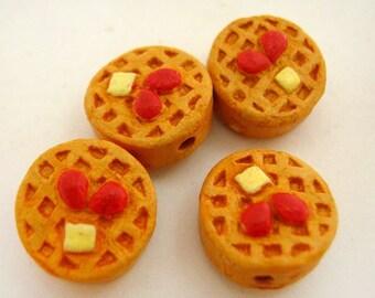 10 Tiny Waffle Beads