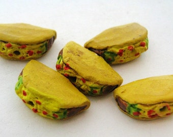 4 Tiny Taco Beads
