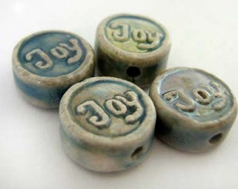 10 Tiny Affirmation Beads - Joy - CB834