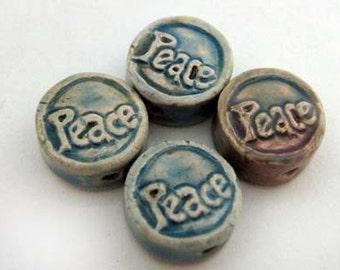 10 Tiny Affirmation Beads - Peace