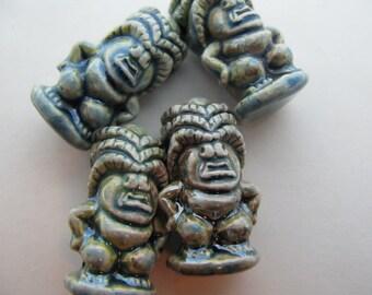 10 Raku Tiki Beads - Lano