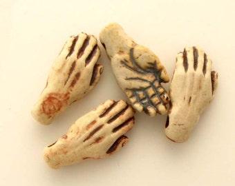 4 Highfired hand Beads - HIFI 76