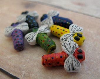 20 Tiny Mixed Dragonfly Beads - CB46M