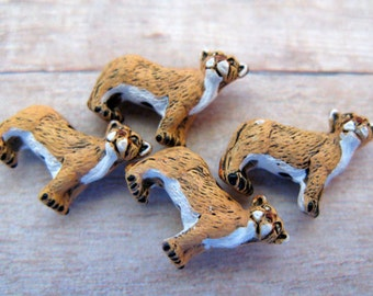 10 Tiny Mountain Lion Beads - CB190