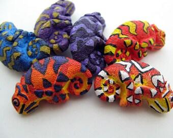 4 Large Chameleon Beads (mixed)