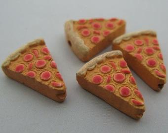 10 Tiny Pizza Beads