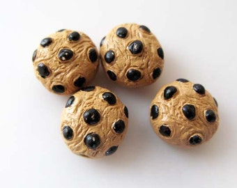 10 Tiny Chocolate Chip Cookie Beads