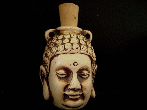 High Fired Ceramic Bottle Bead - Buddha