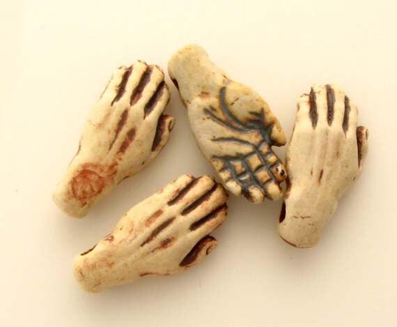 10 Highfired Hand Beads