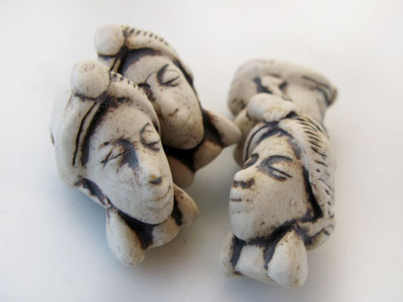 10 Highfired Head Pendants - HIFI188
