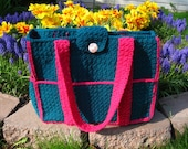 Multi Pocket Two-Tone Purse Crocheted
