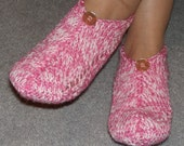 Pair of Raspberry Ripple Pocket Slippers