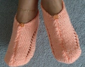 Pair of Shrimp Coral Pocket Slippers