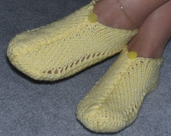 Pair of Canary Yellow Pocket Slippers
