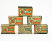 Vintage Match Boxes, Vintage Golden State Safety Matches, California Oranges, Vintage Advertising, Orange and Green Vintage Match Boxes - BlueMoonCollectibles