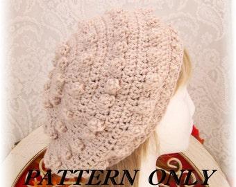 Slouchy hat pattern - Crochet - Original - Beret, tam
