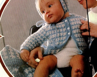 Crochet pattern - Baby -  Sweater, hat and blanket - pdf pattern - instant download