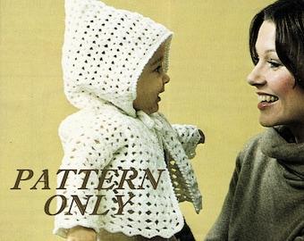 Crochet pattern - Hooded baby jacket