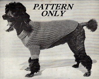 Knit pattern - Dog sweater - pdf instant download