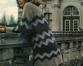 Crochet pattern - women's jacket - instant download - pdf pattern