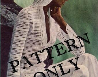 Crochet pattern - hooded pullover