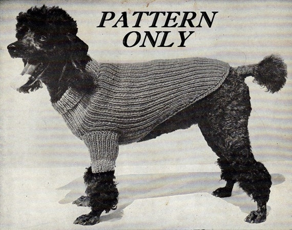 Items similar to Knit pattern - Dog sweater - pdf instant download on Etsy
