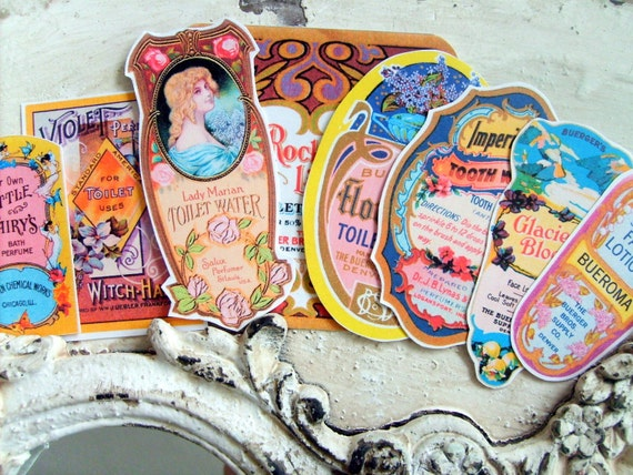 Victorian Perfume and Toiletries Labels for Decoupage Crafts No. 2