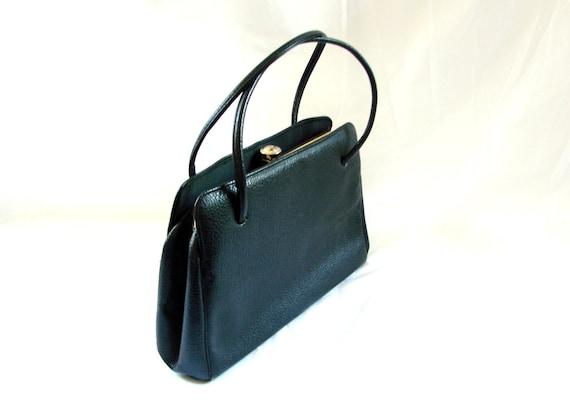 Vintage Bag / 1960s Black Bag Purse Handbag / vintagte 60s handbag Purse Mad Men