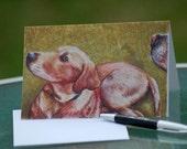 yellow labrador retriever art greeting card
