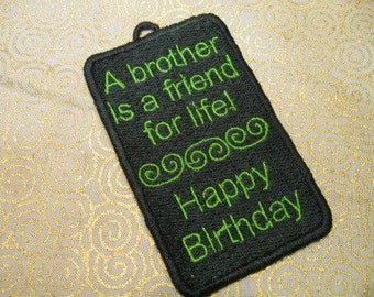 Happy Birthday Brother Gift Tag