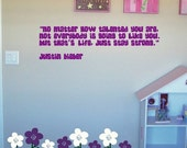 Justin Bieber ... On Being Strong Custom Wall Decal