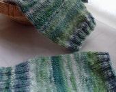 Spring Herb Garden - Texterous Dexterous, handspun, handknit fingerless gloves