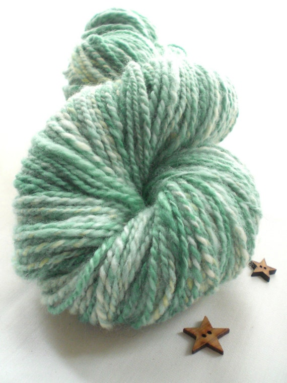 Handspun Yarn - Victoria and Albert on the Nile -  Handpainted, BFL and Tussah Silk Mix. 3oz