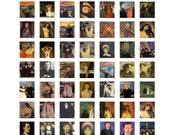 "The Scream Digital Collage Sheet Edvard Munch Madonna Kiss Vampire Scrabble Tile .75"" x .83"" 19x21mm The Scream Digital Instant Download #1"