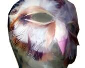 Feather Barn Owl Mask
