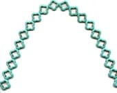 Magnesite Quatrefoil  Triangular Loose Beads Turquoise  Make your own jewelry