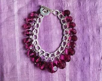 Rich Purple Beaded Bracelet