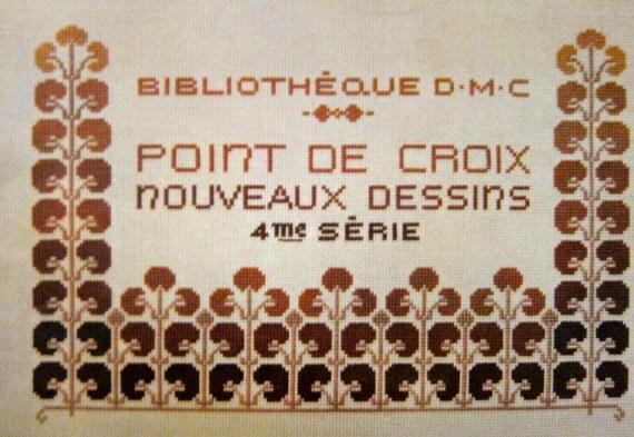 Vintage French DMC Point De Croix Nouveau Designs Very Old