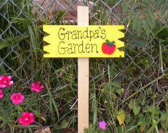 Small Yard Sign 37 -   Grandpa's Garden Tomato