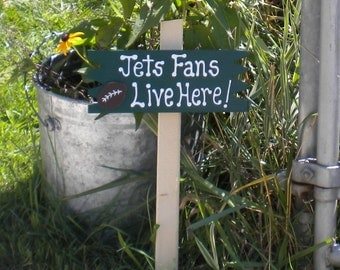 Small Yard Sign 57 - Jets Fans Live Here