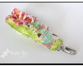 Colorful -  Ruffle Fabric Keychain Fob