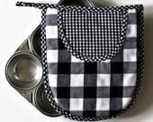 Black & White Gingham Pot Holder