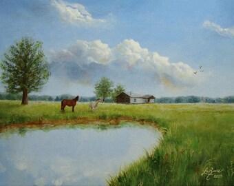 The Pasture-Print