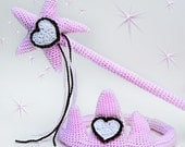 Princess Tiara and Wand Crochet PATTERN