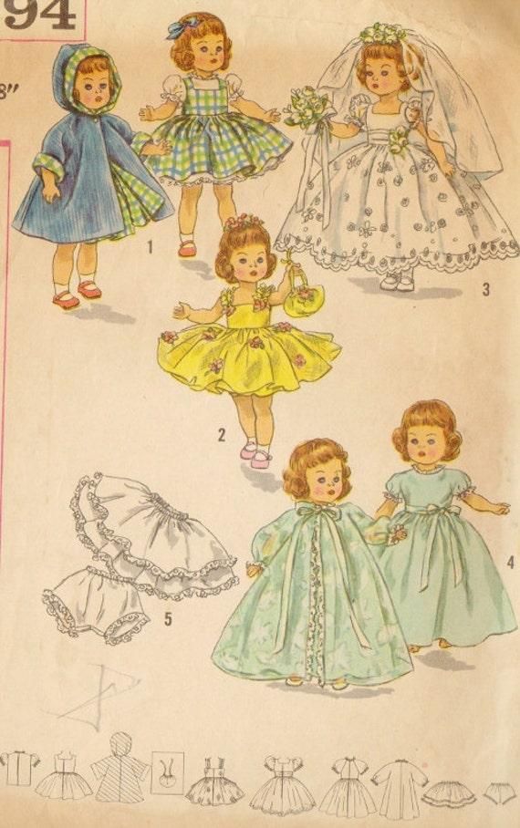 vintage ginny doll clothes pattern by viciousvintagechic